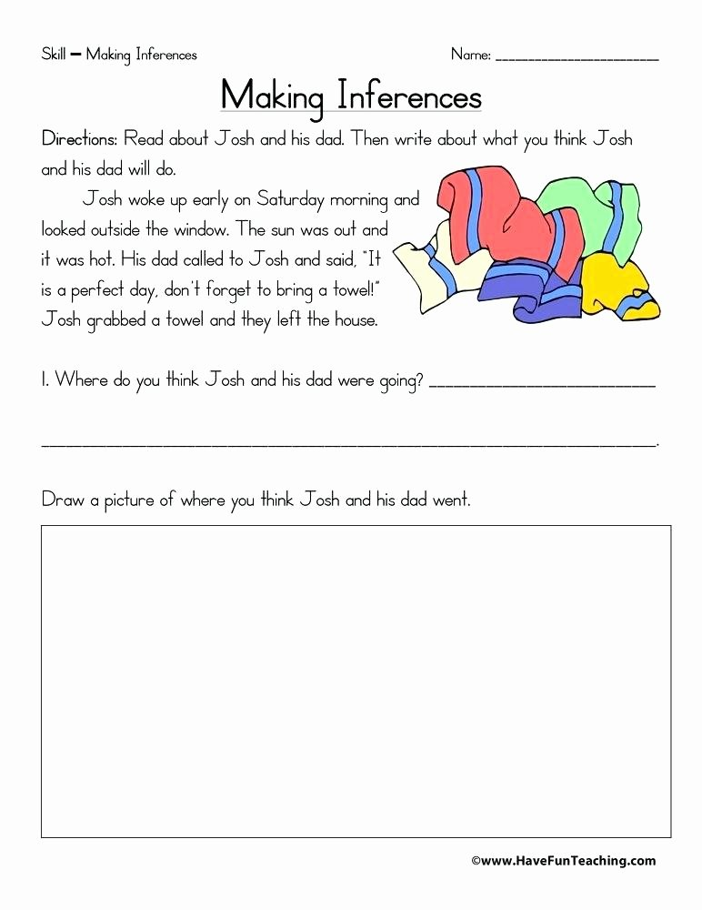 Making Inference Worksheets 4th Grade Understanding Inferences Worksheets Inference Worksheet Free