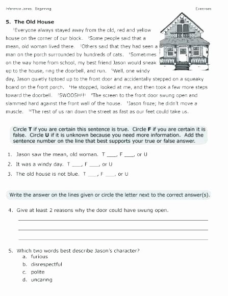 first grade reading worksheets free printable inference for 3rd making inferences worksheet the best image