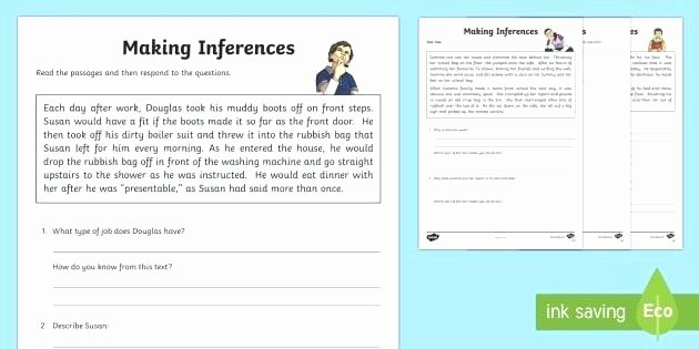 Making Inferences Worksheet 4th Grade Inference Worksheet Activity Sheet Literacy Reading