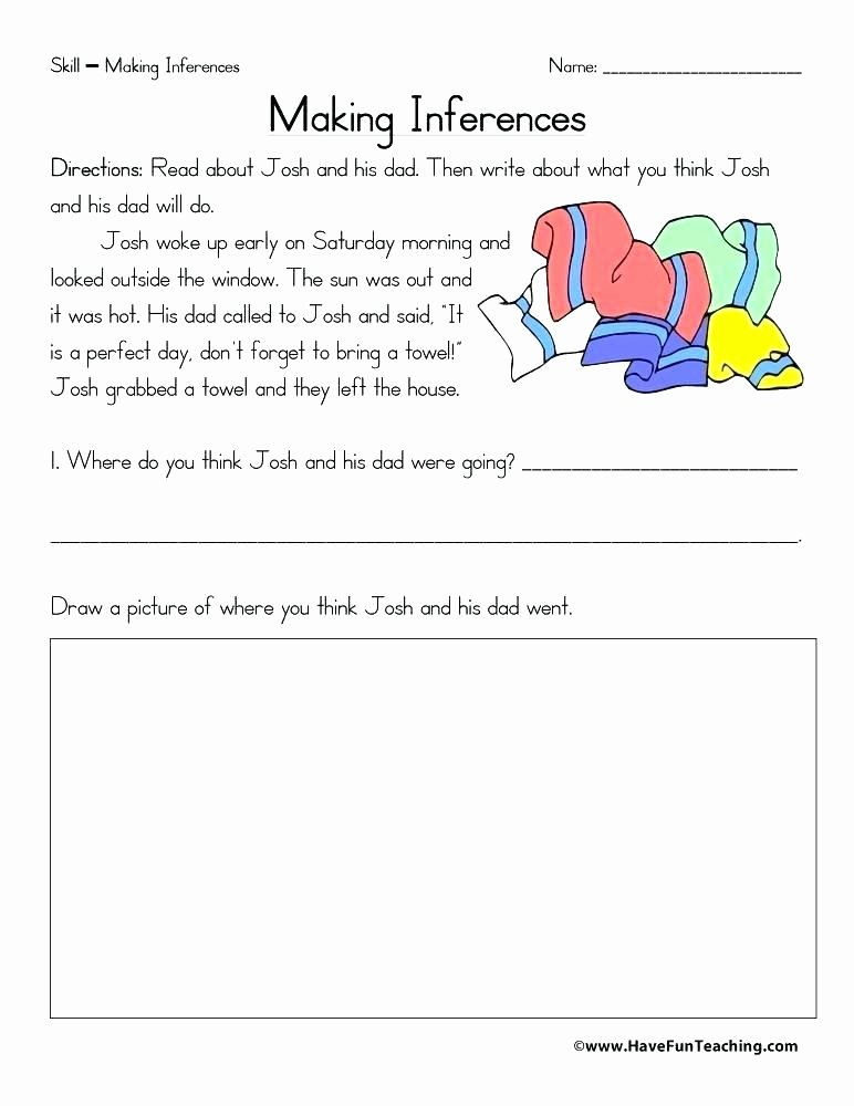 Making Inferences Worksheet 4th Grade Inference Worksheets Middle School Grade Making Out