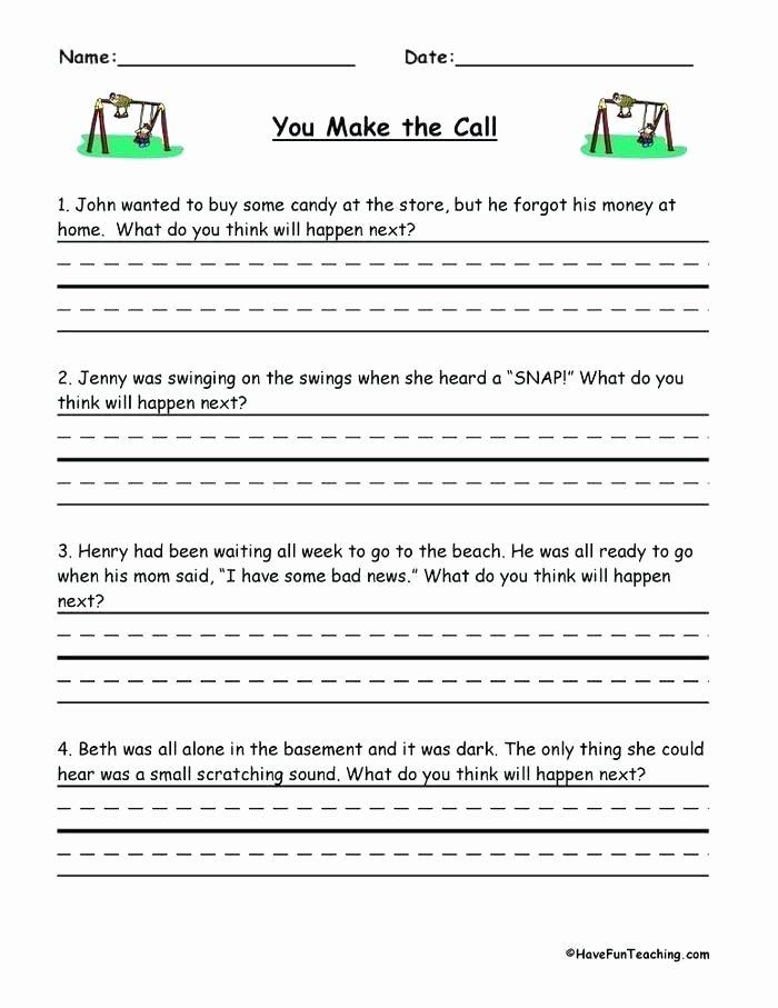 Making Inferences Worksheet 4th Grade Making Predictions Worksheets 4th Grade
