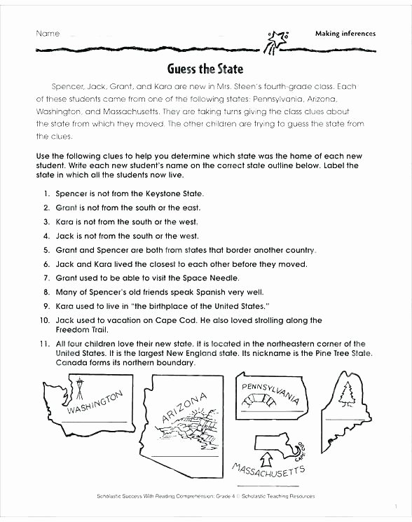 Making Inferences Worksheet 4th Grade Reading Prehension Inferences Worksheets Inference