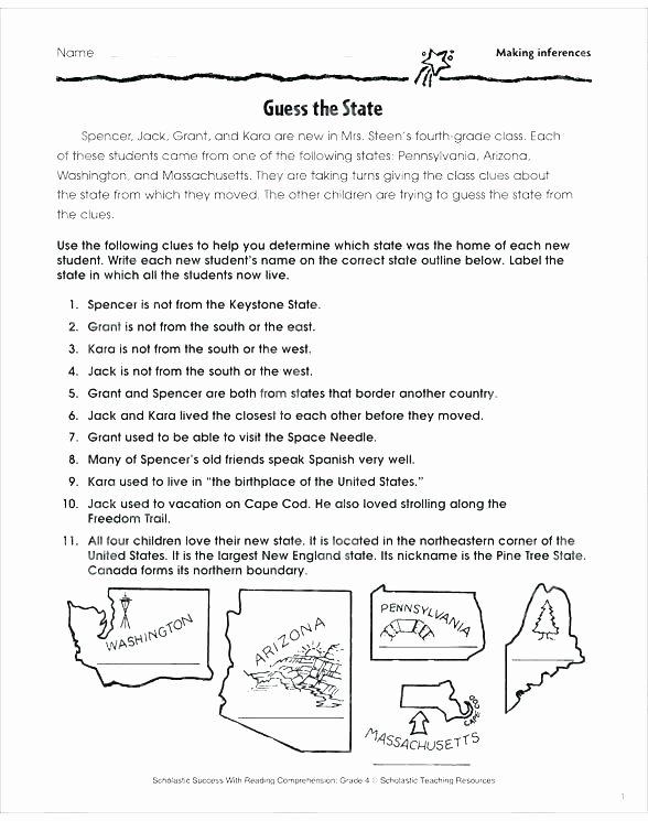 Making Inferences Worksheet 4th Grade Reading Prehension Inferences Worksheets Inference