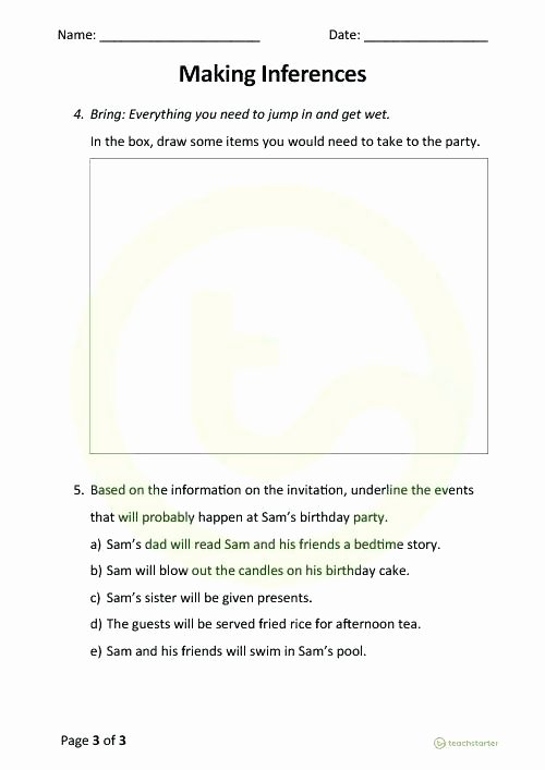 Making Inferences Worksheet Pdf Inference Worksheets Grade 5