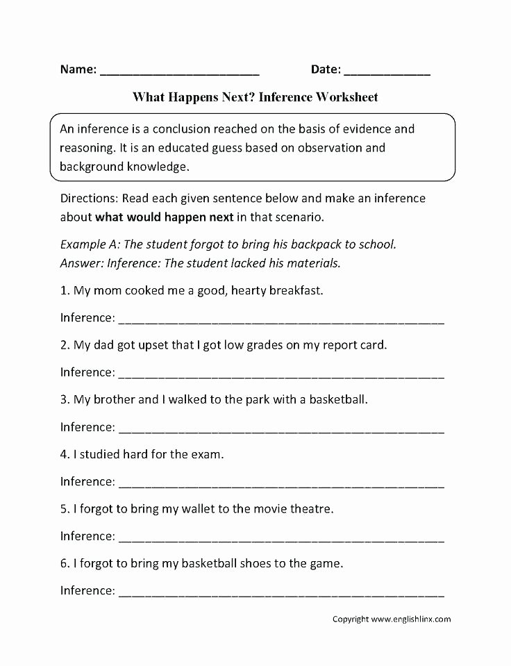 Making Inferences Worksheet Pdf Inference Worksheets Grade formidable Printable Math