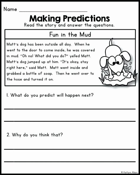 Making Predictions In Reading Worksheets Making Prediction Worksheets 1st Grade Prediction Worksheets