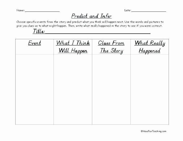 Making Predictions Worksheets 3rd Grade Inspirational Making Predictions Worksheets Grade Reading Prediction Make