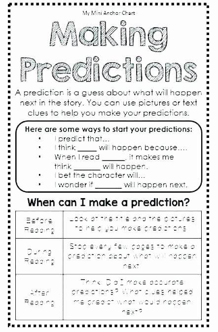 Making Predictions Worksheets 3rd Grade Lovely Making Predictions Worksheets 2nd Grade