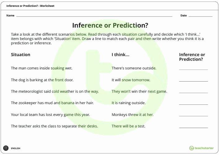 Making Predictions Worksheets 3rd Grade Lovely Prediction Worksheets for 5th Grade You Predict and Infer