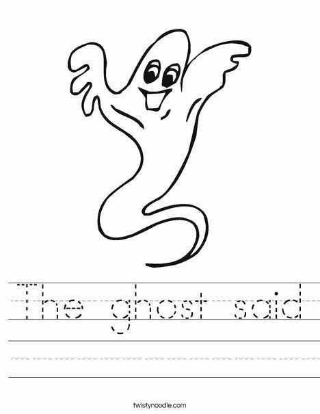 Mammal Worksheets for Kindergarten Ghost Worksheet
