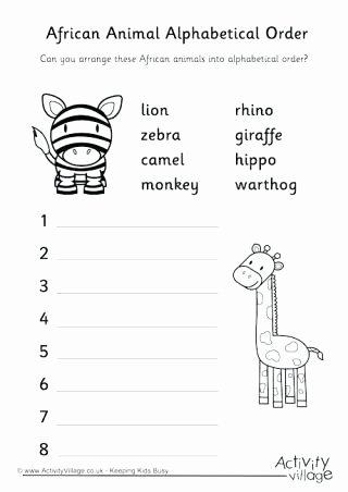 Mammals Worksheets for 2nd Grade Africa Worksheets