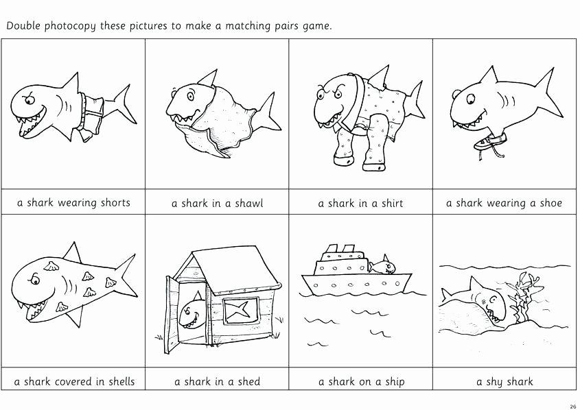 Mammals Worksheets for 2nd Grade Shark Worksheets Sh Initial Speech sound for 2nd Grade