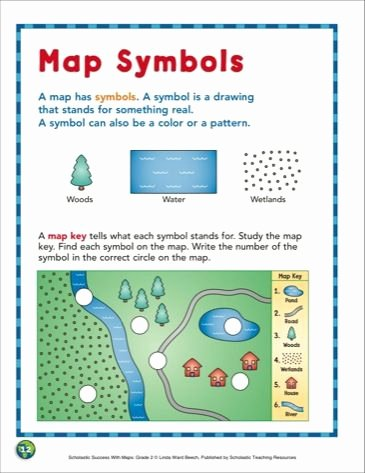 Map Grid Worksheets Awesome Map Symbols Grade 2 Skills Scholastic Printables
