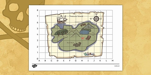 Map Grid Worksheets Elegant Editable Pirate Treasure Map