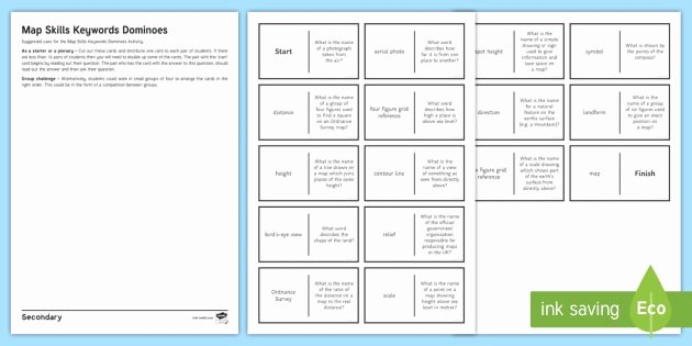 Map Grid Worksheets Fresh Map Skills Dominoes Worksheet Worksheet Map Skills
