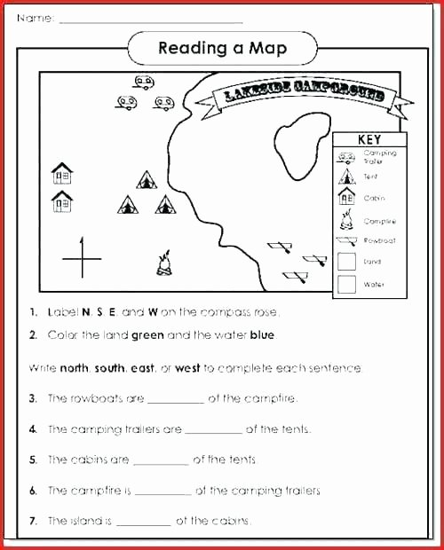 Map Reading Practice Worksheets Beautiful Map Skills Worksheet Middle School Worksheets Library Map
