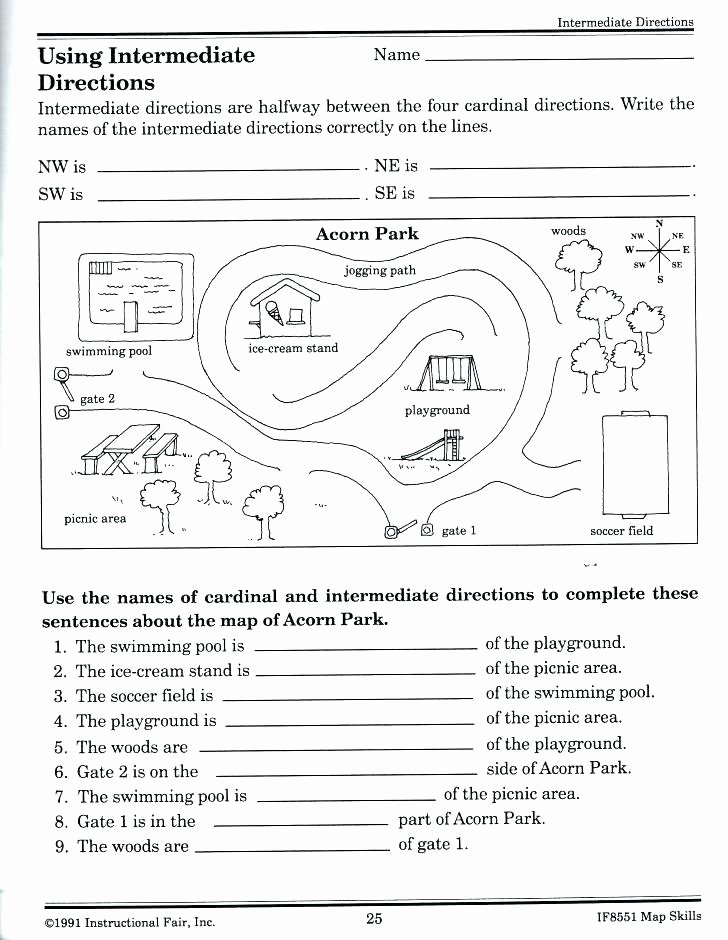 Map Reading Practice Worksheets Best Of Map Skills Worksheets