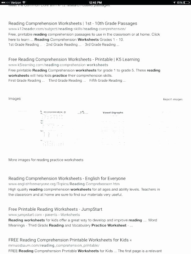Map Reading Practice Worksheets Inspirational Reading Worksheets for Grade 6