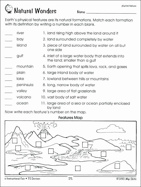 Map Scale Worksheet 3rd Grade 1st Grade Map Skills Worksheets