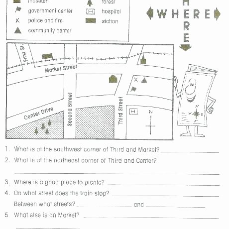 Map Scale Worksheet 3rd Grade Free Geography Map Skills Worksheets Lessons Quizzes for