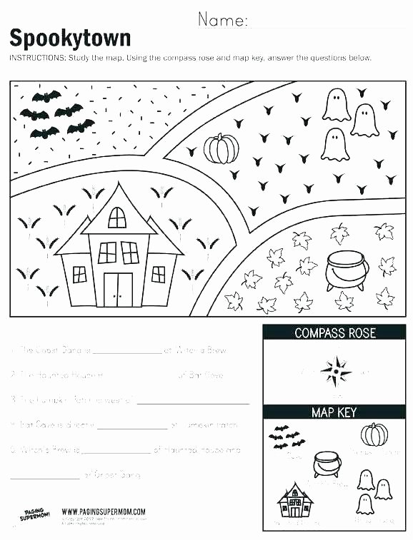Map Scale Worksheet 3rd Grade Free Map Skills Worksheets