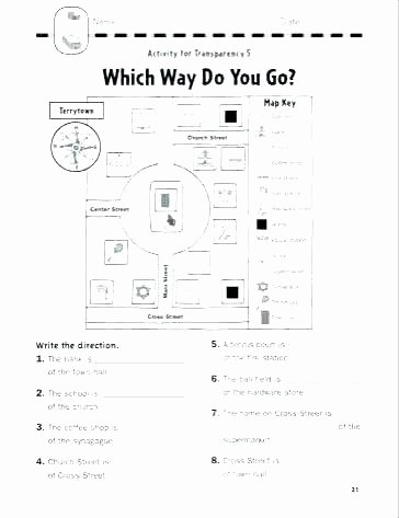 Map Scale Worksheet 3rd Grade Free Printable Map Skills Worksheets for First Grade