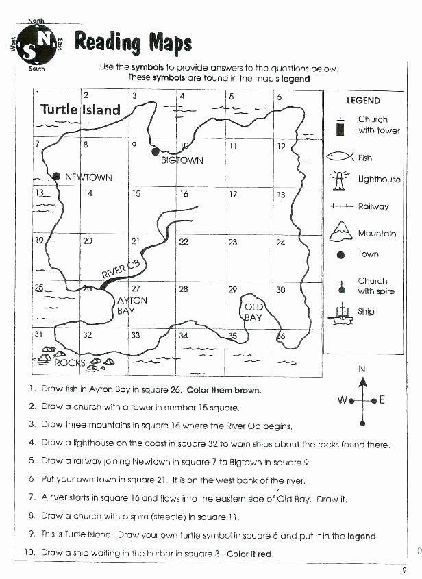 Map Scale Worksheet 4th Grade Second Grade Map Skills Worksheets