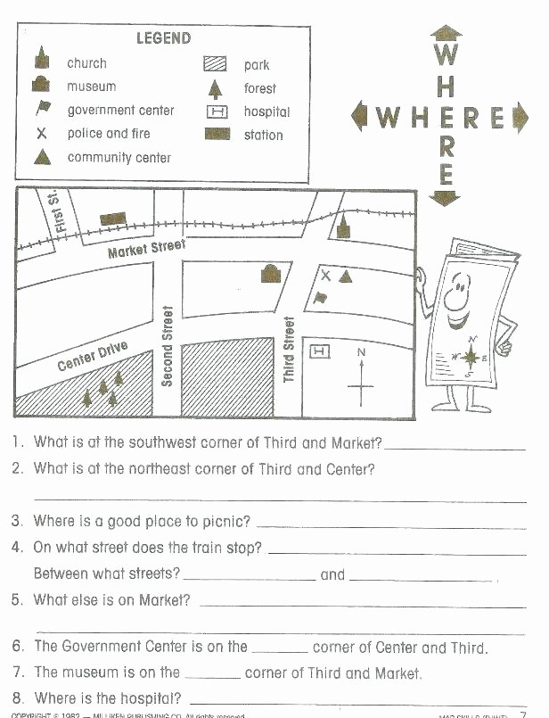 Map Scale Worksheet 4th Grade Snapshot Image Map Skills Worksheet social Stu S