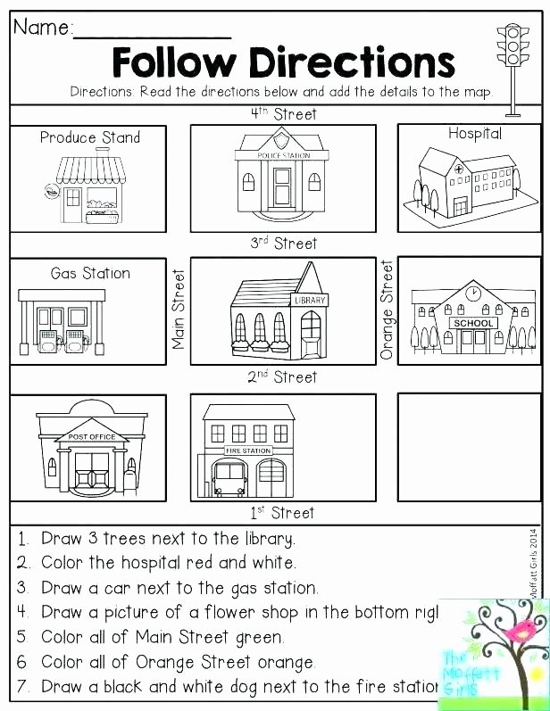 Map Skill Worksheets Maps for First Grade Map Worksheets Free Printable Skills