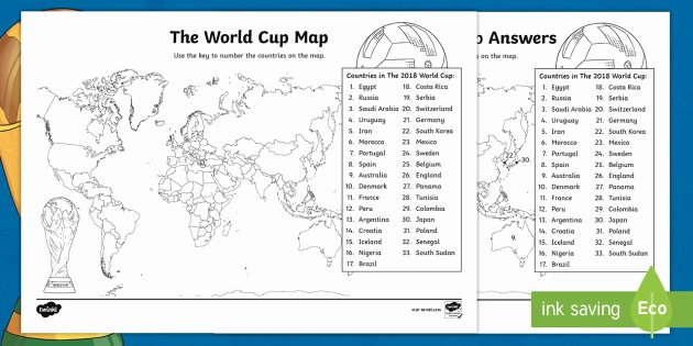 Map Skill Worksheets the World Cup Map Worksheet the World Cup Map Worksheet