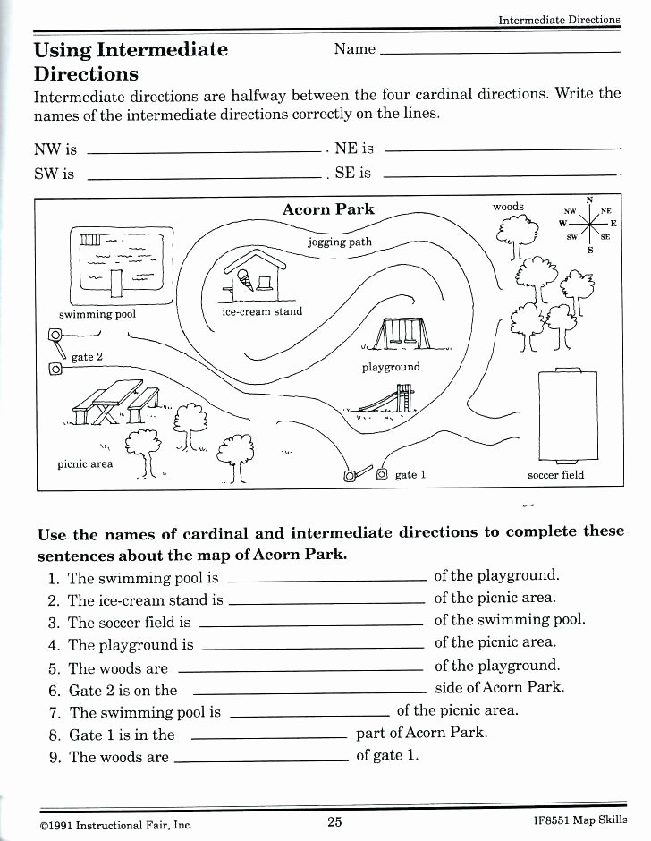 Map Skill Worksheets World Map Worksheet for Second Grade Printable Geography
