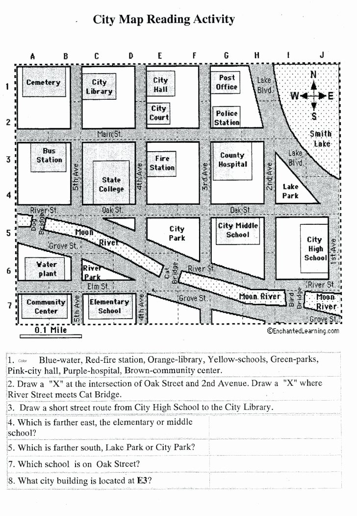 Map Skills Worksheet 2nd Grade Awesome Grid Reference Worksheet Reading A Map Pdf 2nd Grade Maps
