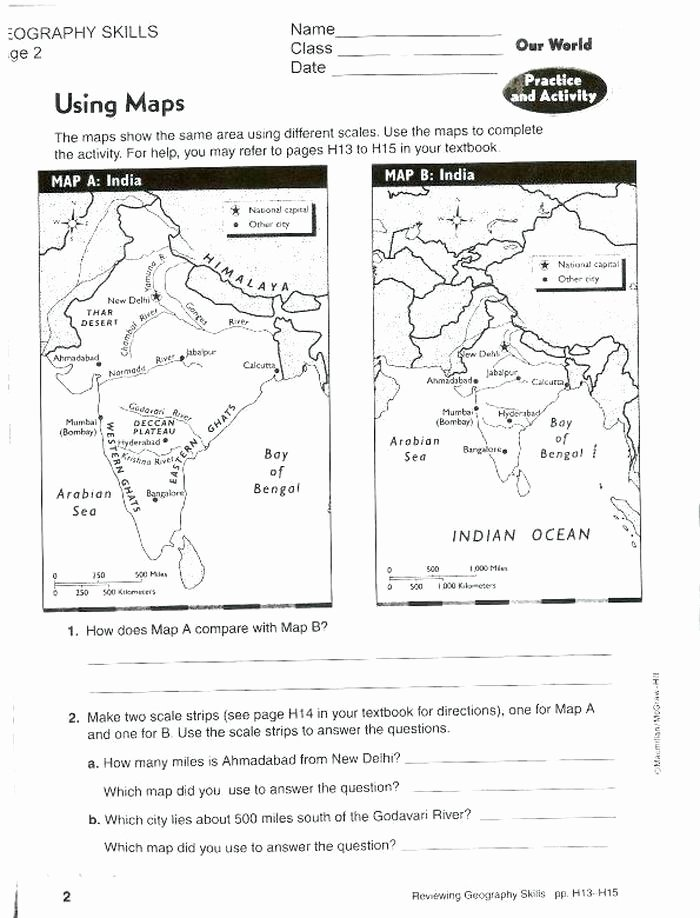 Map Skills Worksheet 2nd Grade Lovely 9 Different Types Of Maps Worksheet Free Worksheets Library