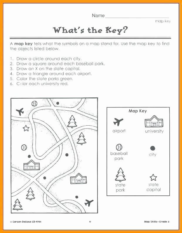 Map Skills Worksheet 4th Grade Easy Map Skills Worksheets