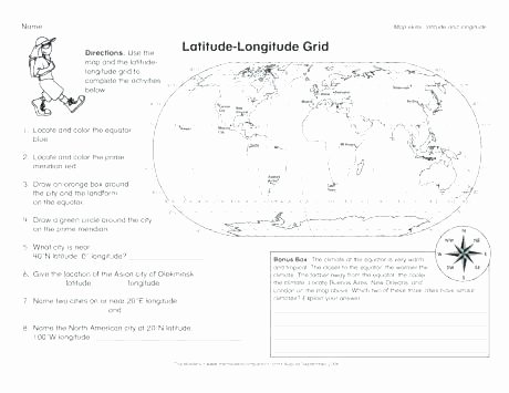 Map Skills Worksheet 4th Grade Latitude and Longitude Worksheets 4th Grade