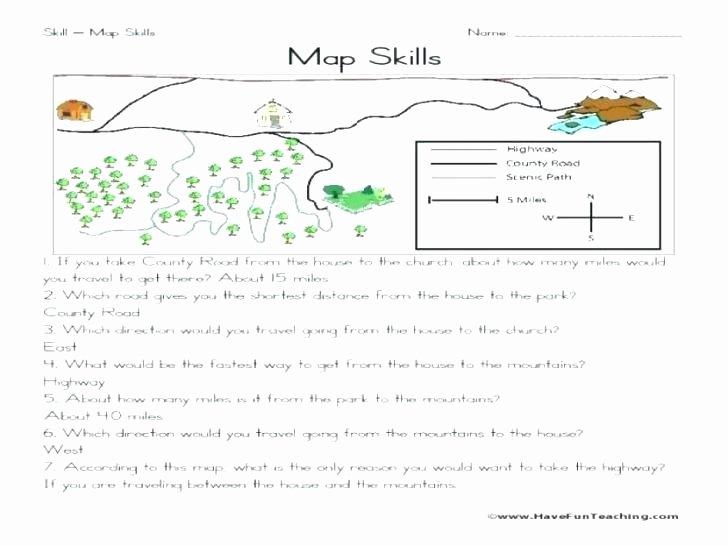 Map Skills Worksheet 4th Grade Map Skills Worksheets 4th Grade