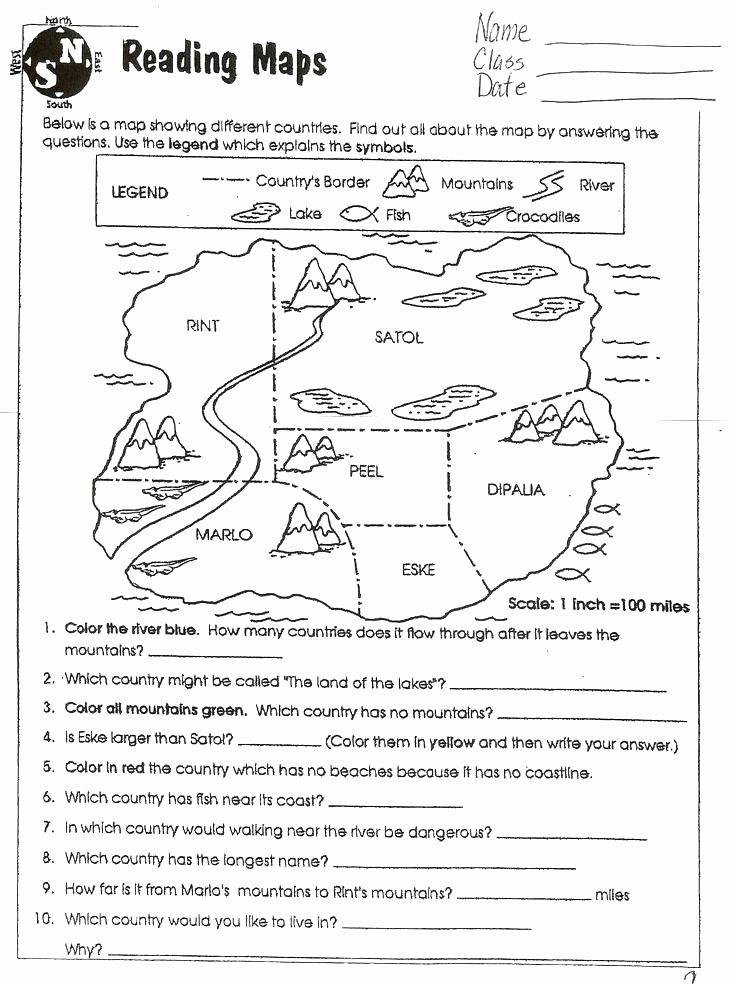 Map Skills Worksheet 4th Grade Map Skills Worksheets High School Map Skills Worksheets Grad