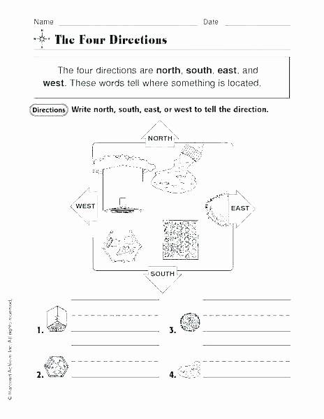 Map Skills Worksheet 4th Grade Map Worksheets for 4th Grade