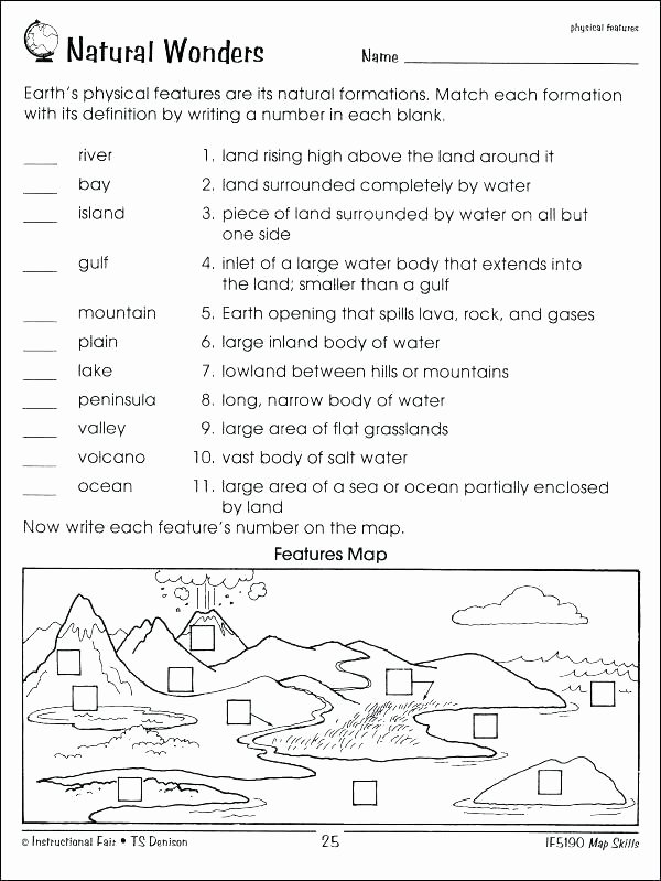 Map Skills Worksheet 4th Grade Me the Map Worksheets Free Printable Blank Continent Maps