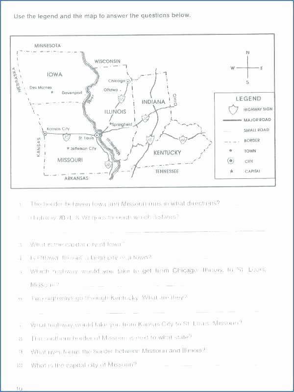 Map Skills Worksheet 4th Grade New York State Worksheets 4th Grade Fourth Geography