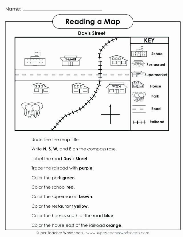 Map Skills Worksheet 4th Grade Printable Map Worksheets