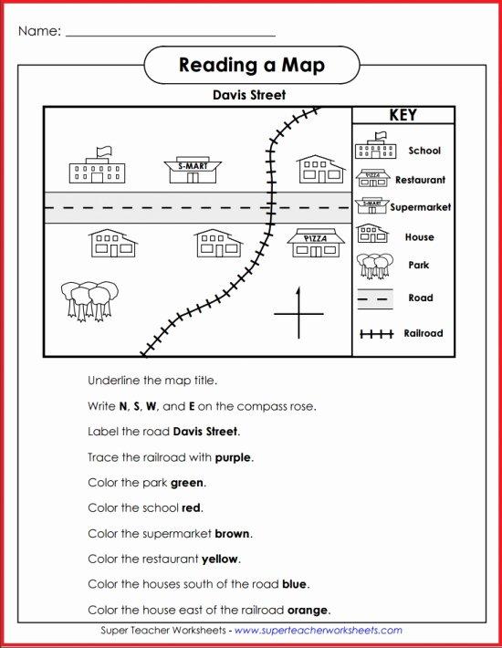 Map Skills Worksheets Answers Basic Map Skills Davis Street Activity