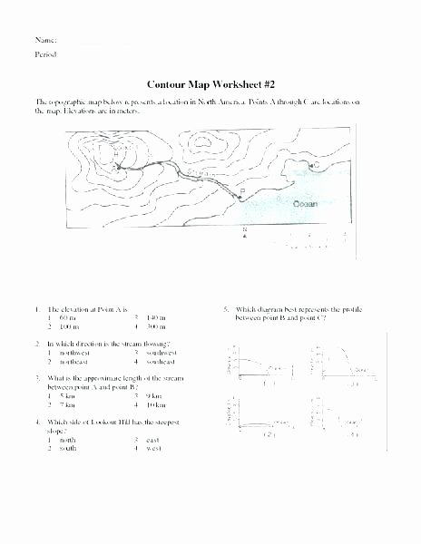 Map Skills Worksheets Answers Map Reading Practice Worksheets
