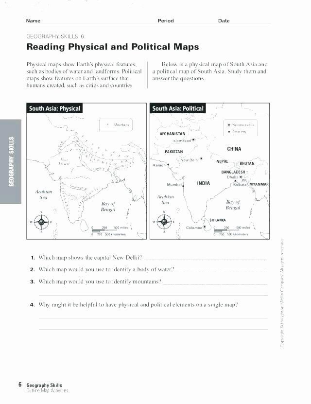 Map Skills Worksheets Answers Me the Map Worksheets Free Printable Blank Continent Maps