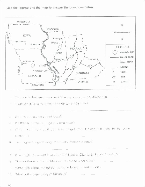 Map Skills Worksheets Middle School Map Reading Practice Worksheets Geography Skills High School