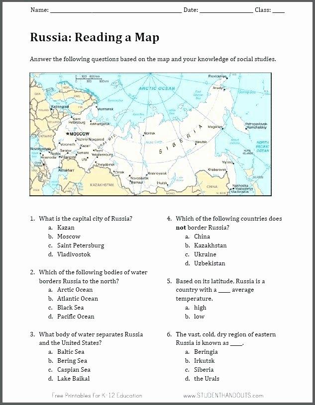 Map Skills Worksheets Pdf Reading Worksheets Geography Map Worksheet the Esl Pdf