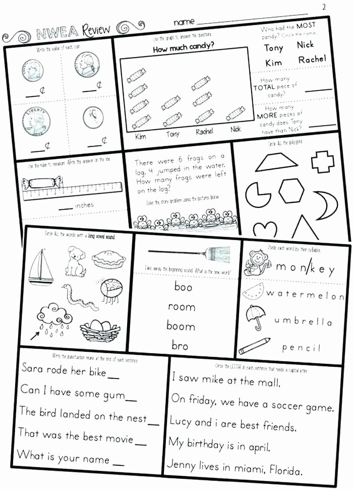 Map Worksheet 2nd Grade Free Printable Grade Reading Prehension Worksheets for 6