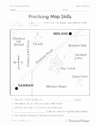 Map Worksheet 2nd Grade Map Skills Worksheets Free Printable Basic Concept Mapping