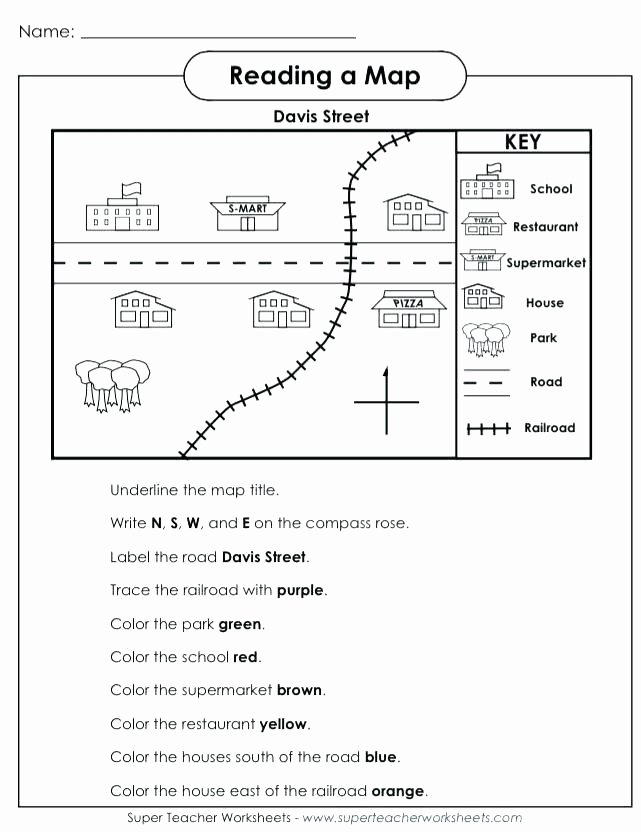 Map Worksheet 2nd Grade Printable Map Worksheets