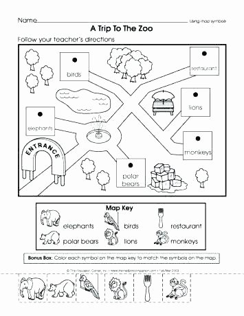Map Worksheet 2nd Grade Second Grade Map Skills Worksheets